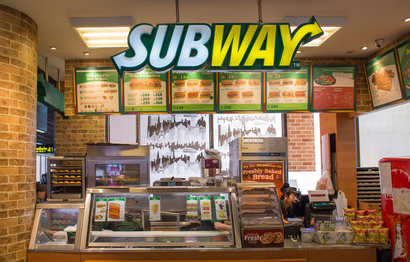 地铁餐馆外视图  库存照片