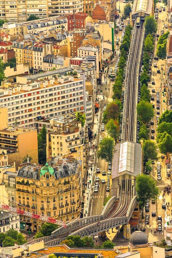 地铁6在巴黎 免版税库存图片