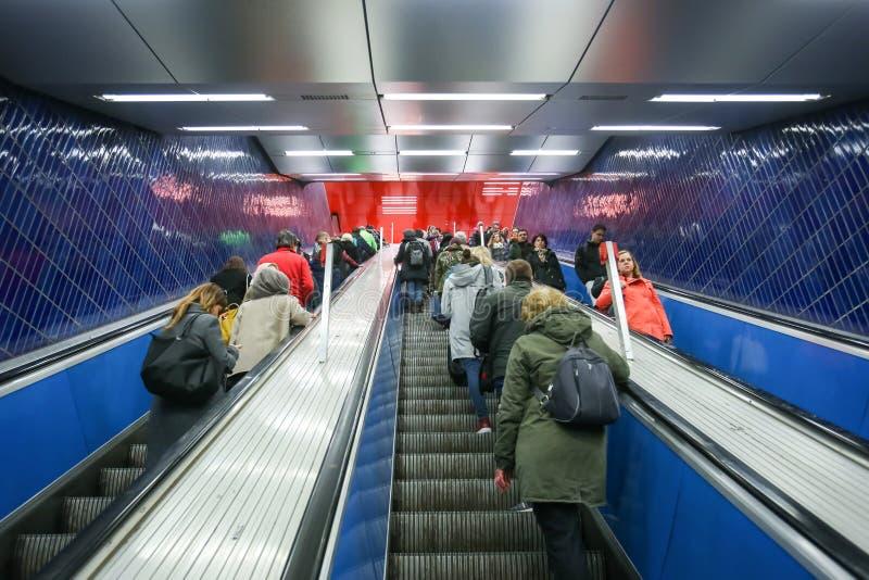 地铁系统在慕尼黑 库存照片