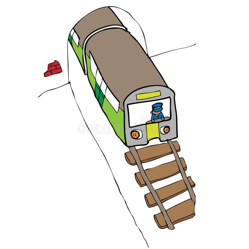 地铁 库存例证