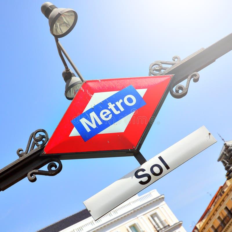 地铁Sol在马德里 库存照片