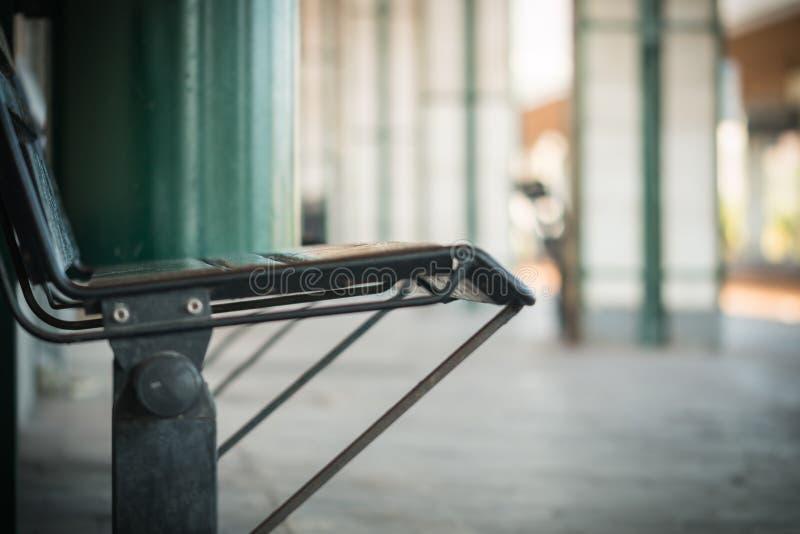 驻地长凳 免版税图库摄影