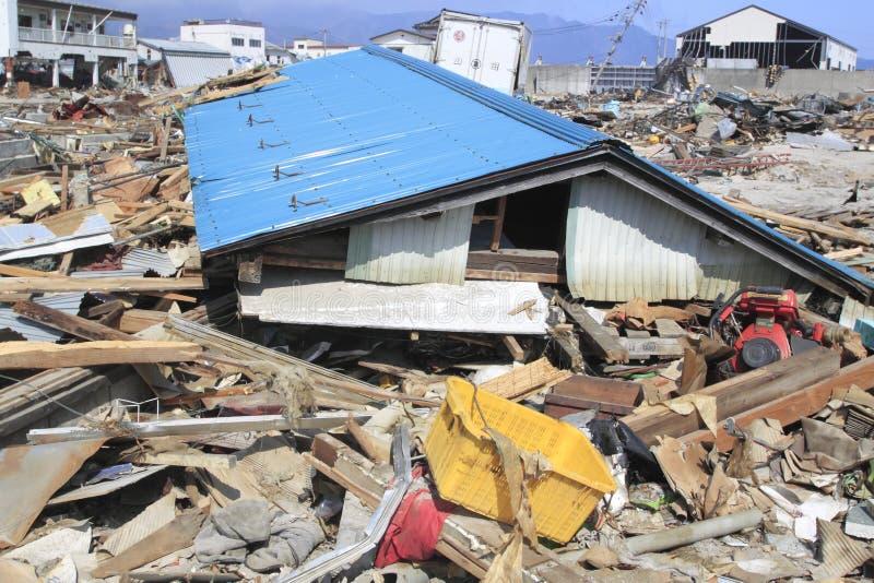 地震东部极大的日本 库存图片