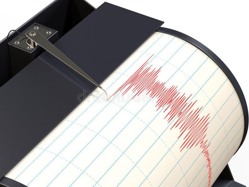 地震仪仪器记录 皇族释放例证