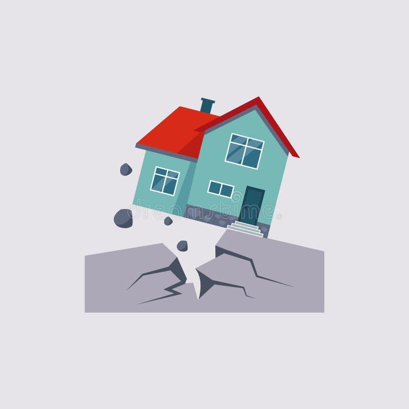 地震保险传染媒介Illustartion 向量例证