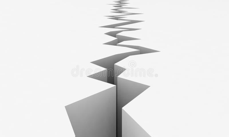 地震向量 向量例证