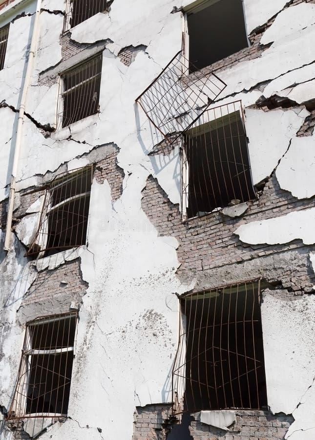 地震房子 库存图片