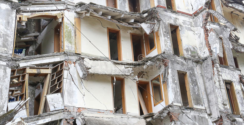 地震房子 免版税图库摄影