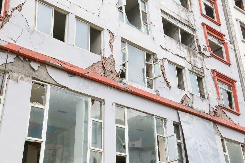 地震房子 免版税库存照片