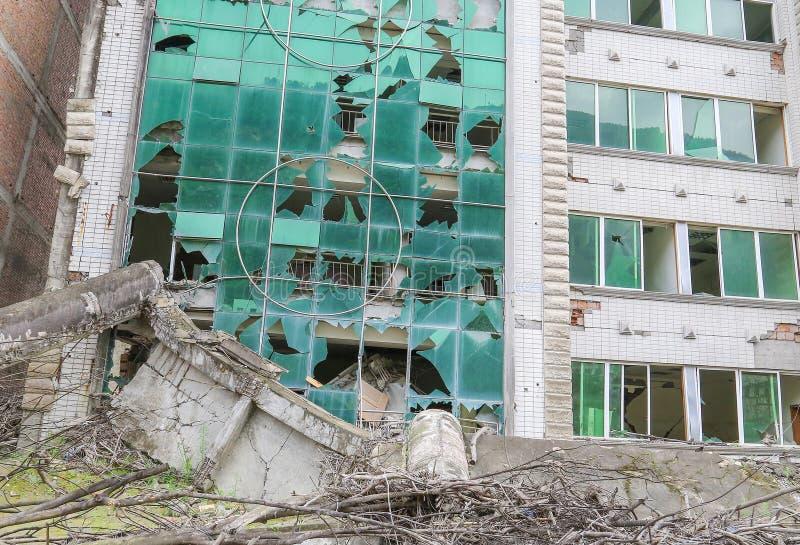 地震房子 图库摄影