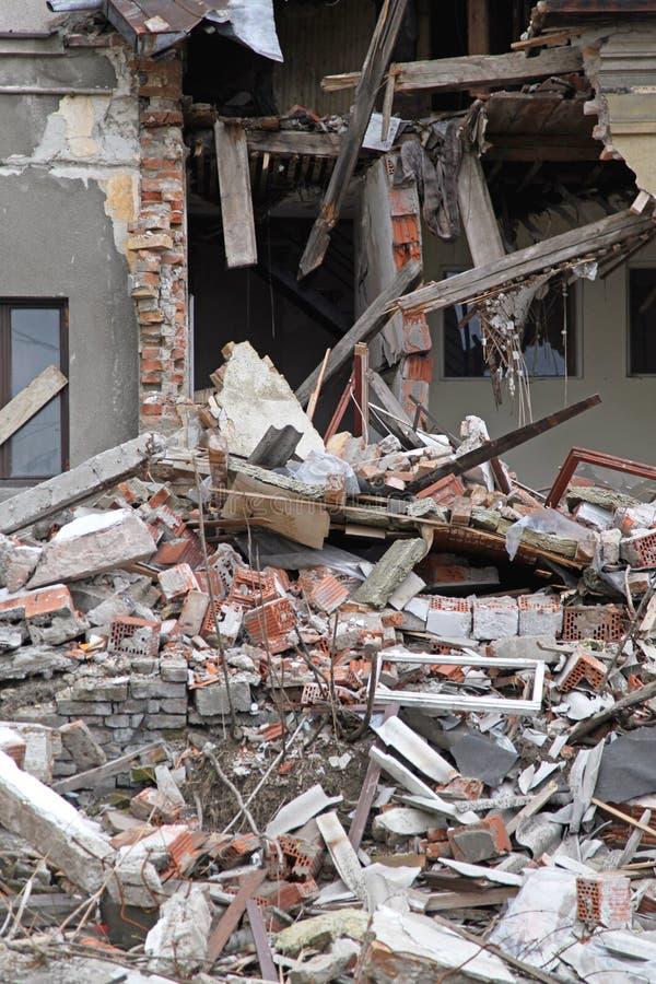 地震损伤 免版税库存图片
