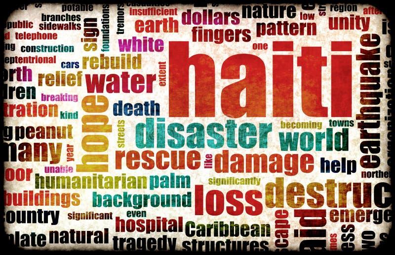 地震海地 向量例证