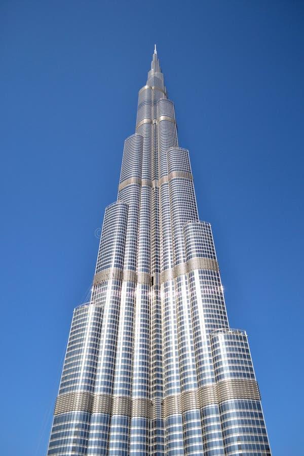 从地面的Burj哈利法 免版税库存图片