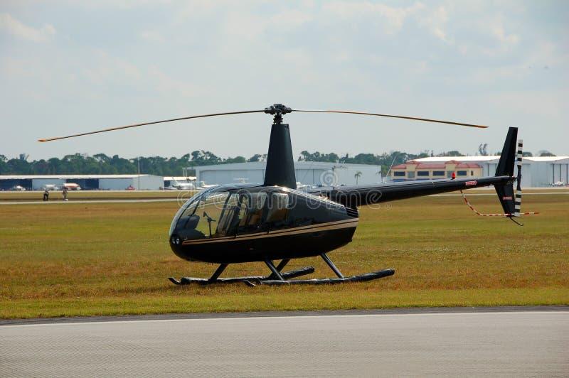 地面直升机光 免版税库存照片
