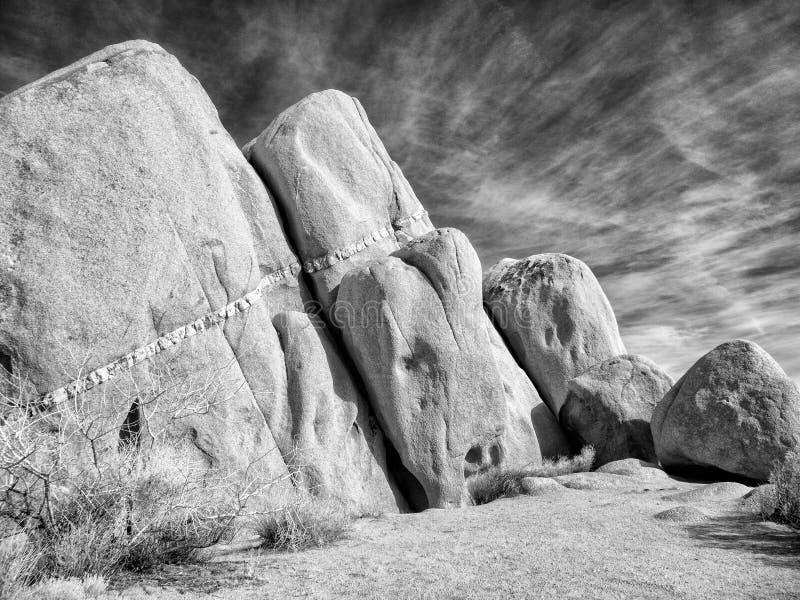 地质地层,约书亚树国家公园 免版税库存图片