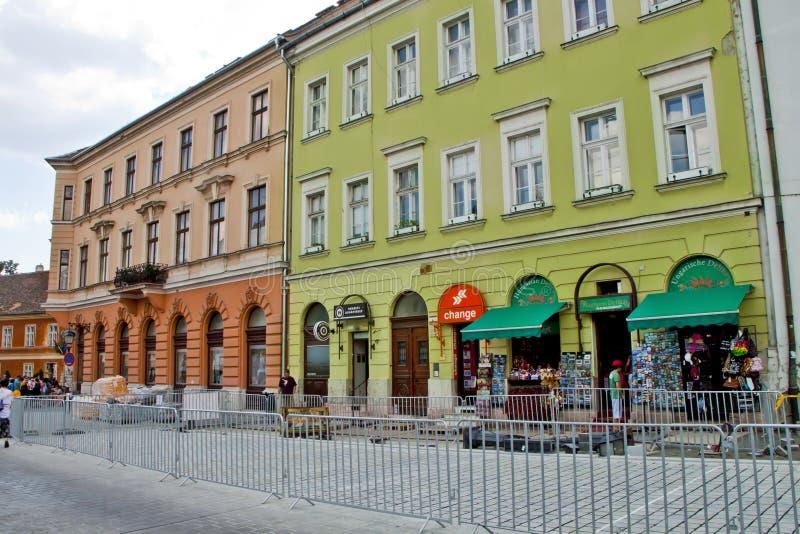 场面在布达佩斯,匈牙利 库存图片