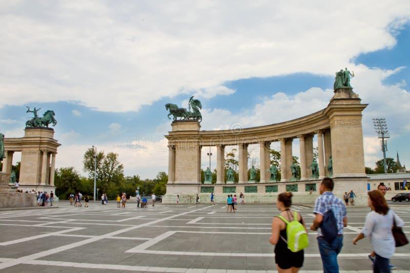 场面在布达佩斯,匈牙利 库存照片