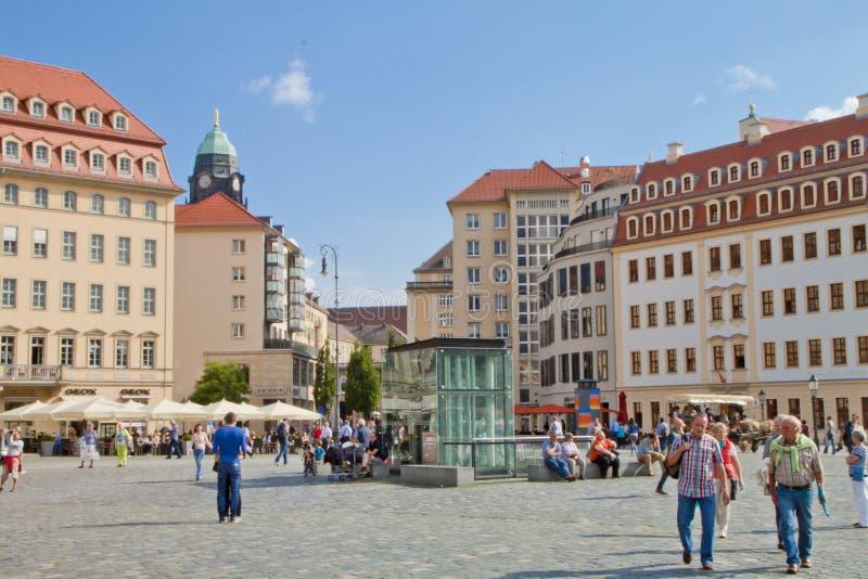 场面在德累斯顿,德国 免版税库存图片