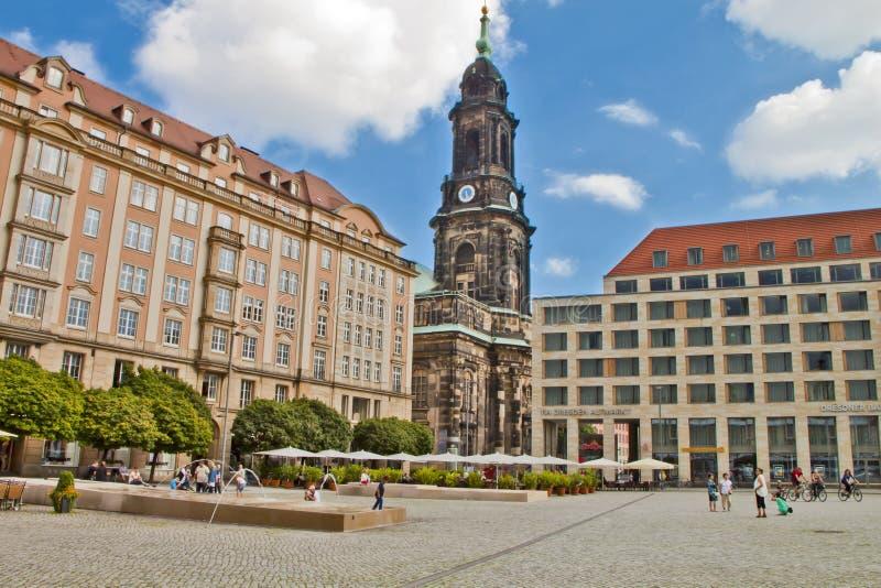 场面在德累斯顿,德国 免版税库存照片