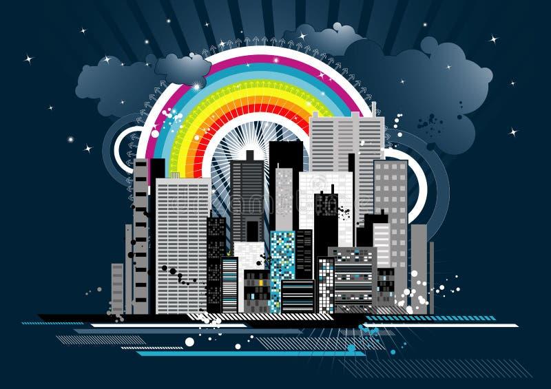 场面都市向量 库存例证