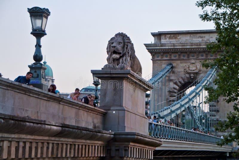 场面,布达佩斯匈牙利 免版税库存照片