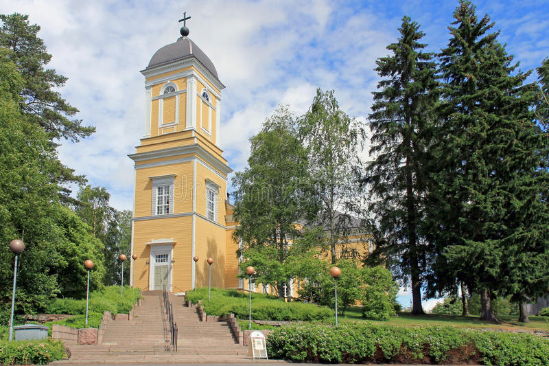坎康佩教会,芬兰 库存图片