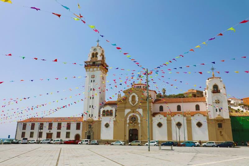 坎德拉里亚圣殿,圣克鲁斯-德特内里费,加那利群岛,西班牙 库存照片