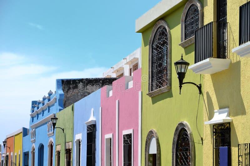 坎比其市在墨西哥 库存照片