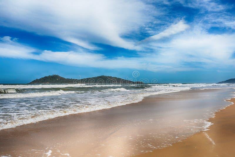 坎比其海滩,弗洛里亚诺波利斯,巴西 免版税图库摄影