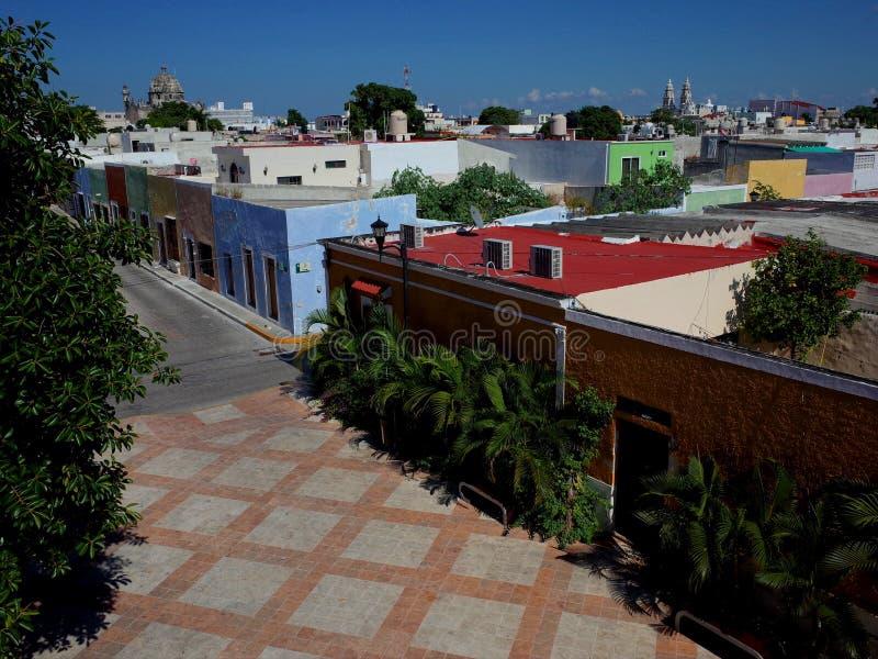 坎比其看法在墨西哥 免版税库存照片