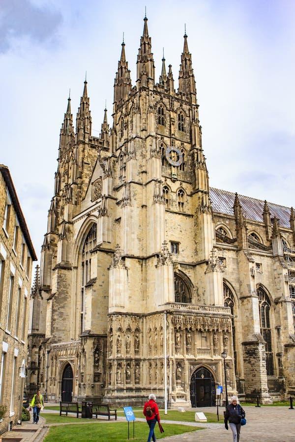 坎特伯雷大教堂修道院,肯特,英国 库存图片