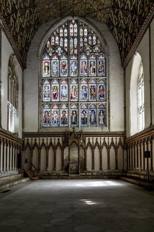 坎特伯雷大教堂的内部,英国 库存照片