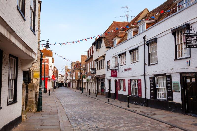 坎特伯雷老镇肯特南英国英国 免版税库存图片