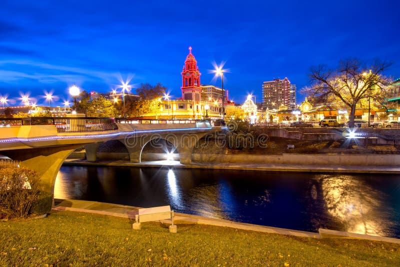 坎萨斯城圣诞节 免版税图库摄影