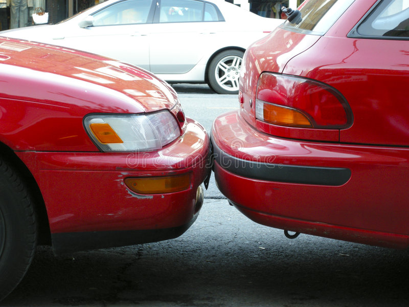 坏停车 图库摄影