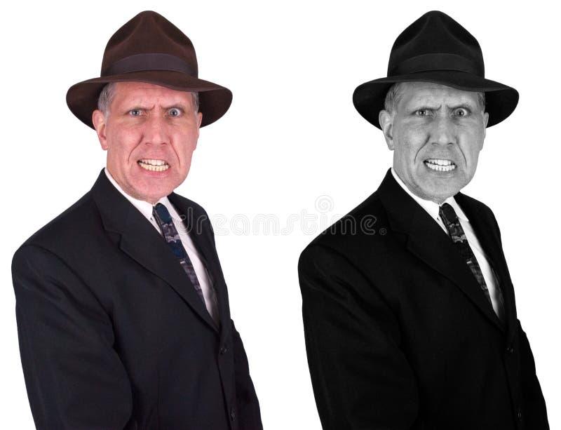 坏匪徒人查出旧时黑手党的流氓 免版税库存照片