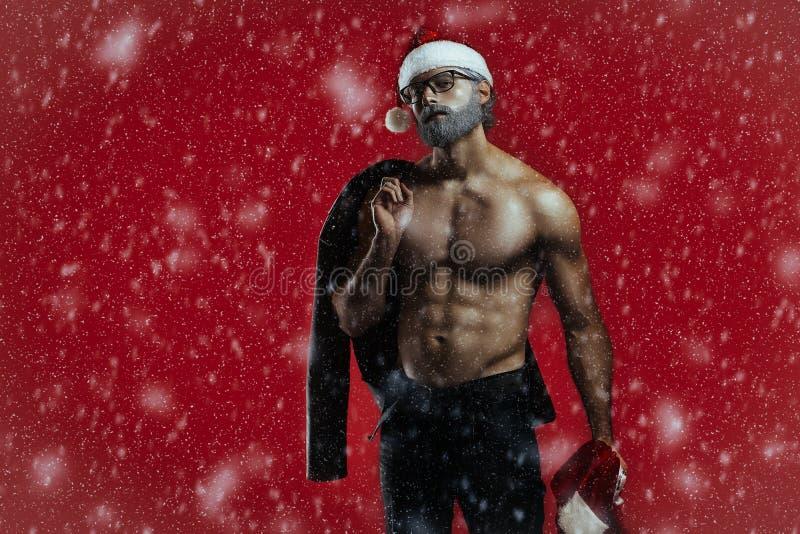 坏圣诞老人幻想 免版税库存照片