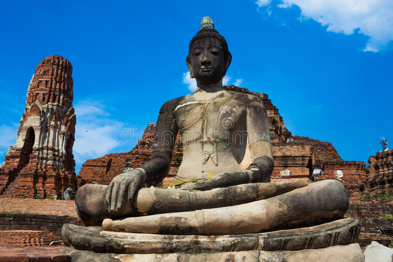 破坏寺庙,阿尤特拉利夫雷斯历史公园,泰国 库存图片