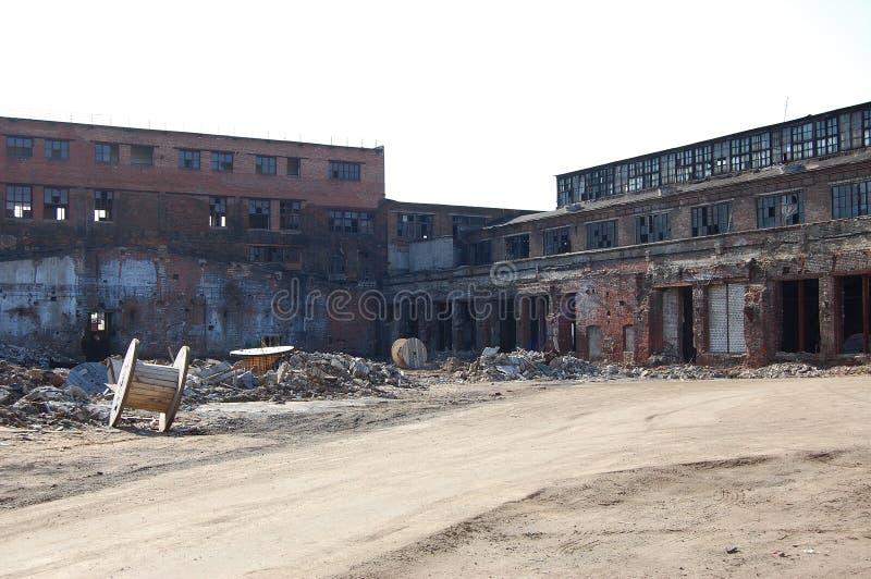 破坏工厂 免版税库存照片