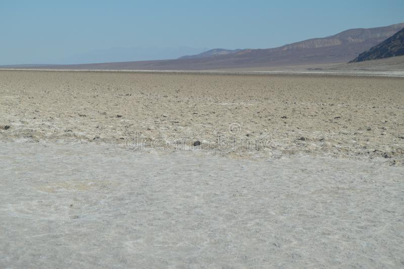 坏水池水 在海平面下的最低的地方 硕大盐盐水湖 旅行holydays地质 库存图片