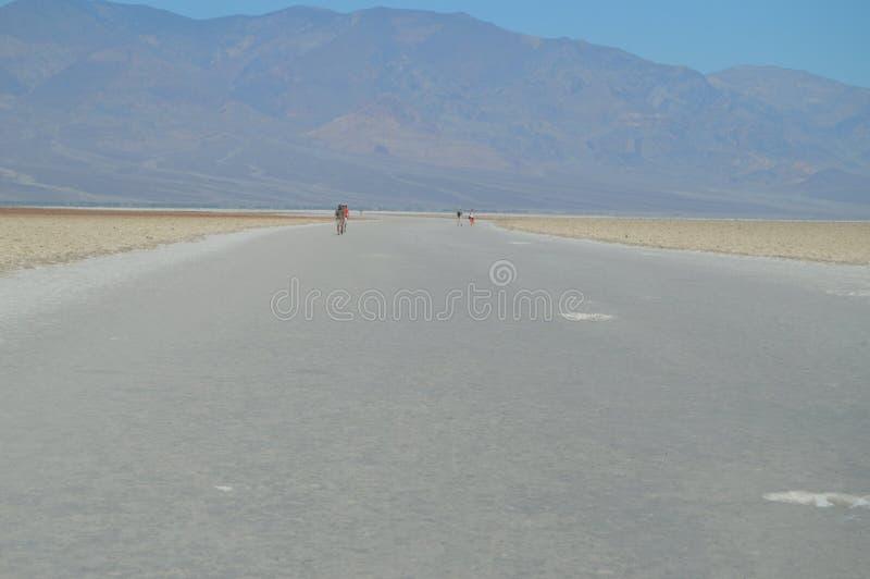 坏水池水 在海平面下的最低的地方 硕大盐盐水湖 旅行holydays地质 免版税图库摄影