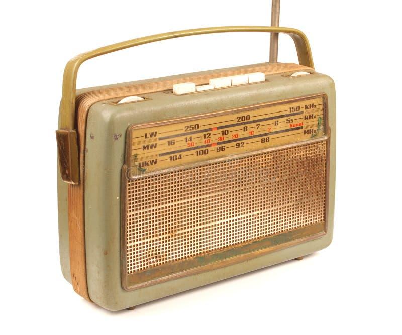 坏的老收音机 免版税库存图片