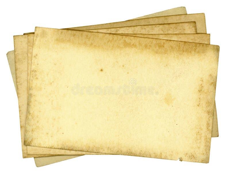 坏的老纸背景纹理 免版税库存图片