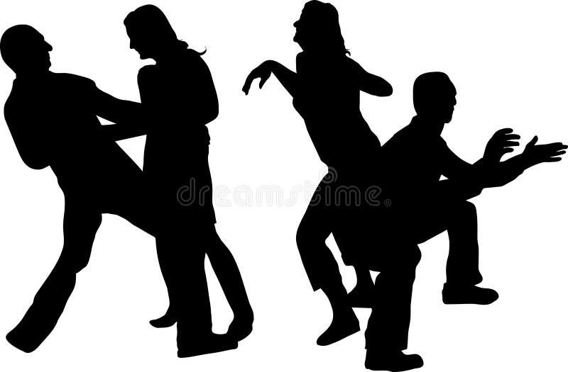 坏的舞蹈 库存例证