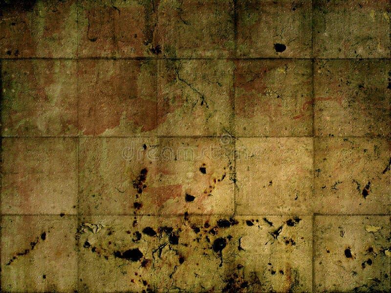 坏的铁锈墙壁 皇族释放例证