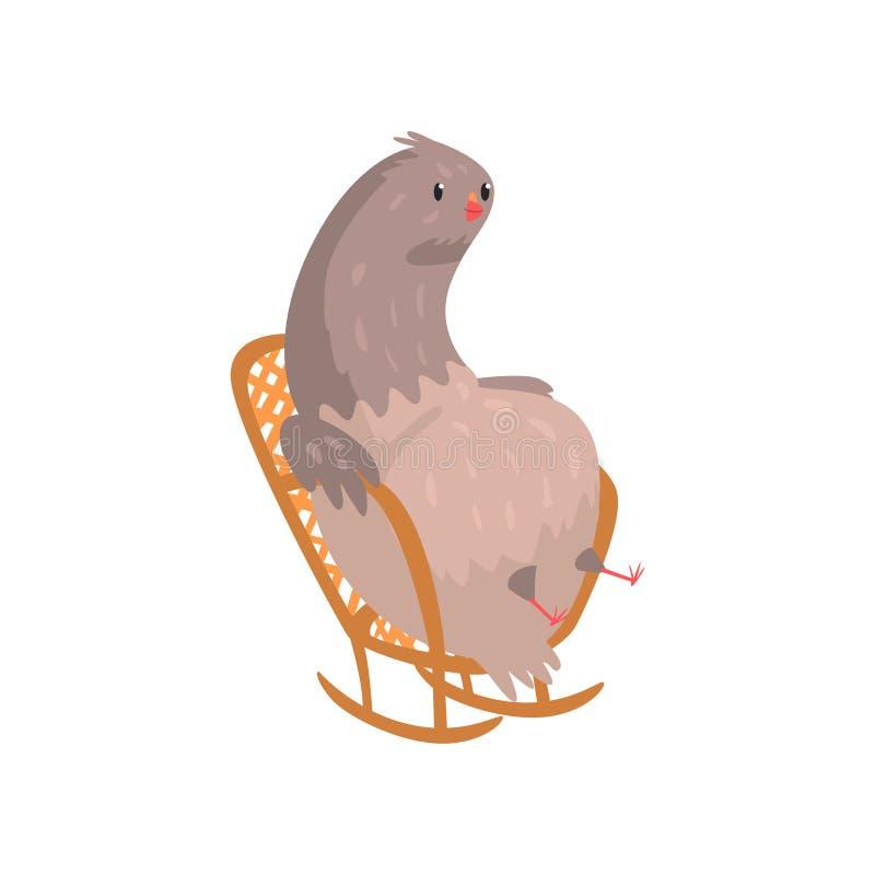 坐在摇椅的油脂鸠 皇族释放例证