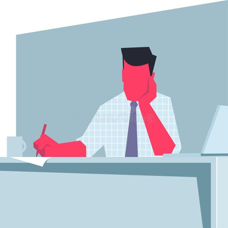 Download 坐在桌和写上的商人 向量例证. 插画 包括有 向量, 开会, 成人, 懒惰, 衬衣, 关系, 乏味, 生意人 - 59102021