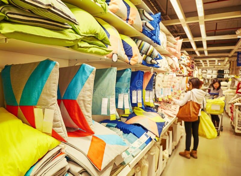 坐垫在超级市场 库存图片