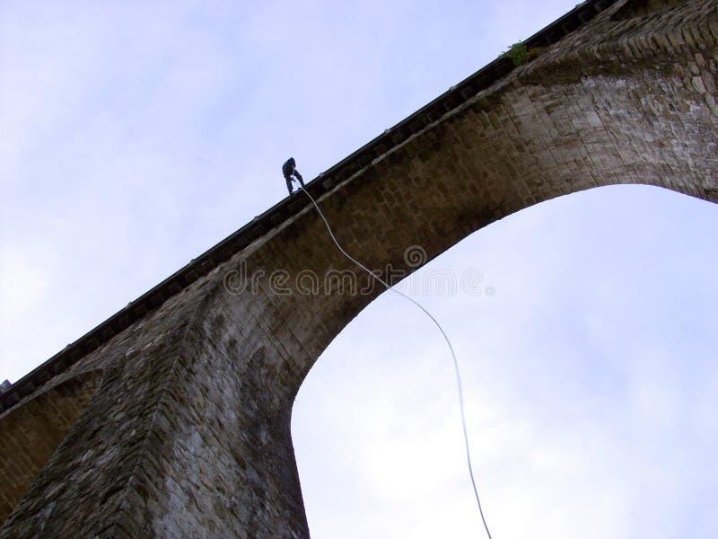 坐式下降法的桥梁 免版税库存图片