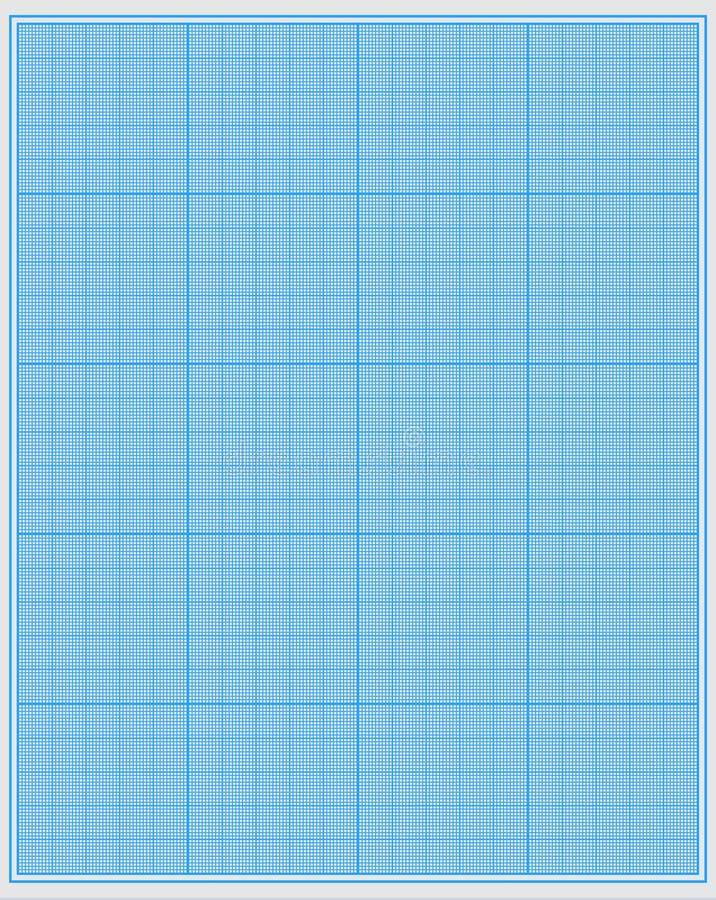 坐标纸 向量例证